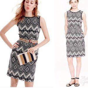 J.crew tribal print dress size 2